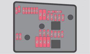 Skoda Yeti - fuse box diagram - engine compartment (version 2)