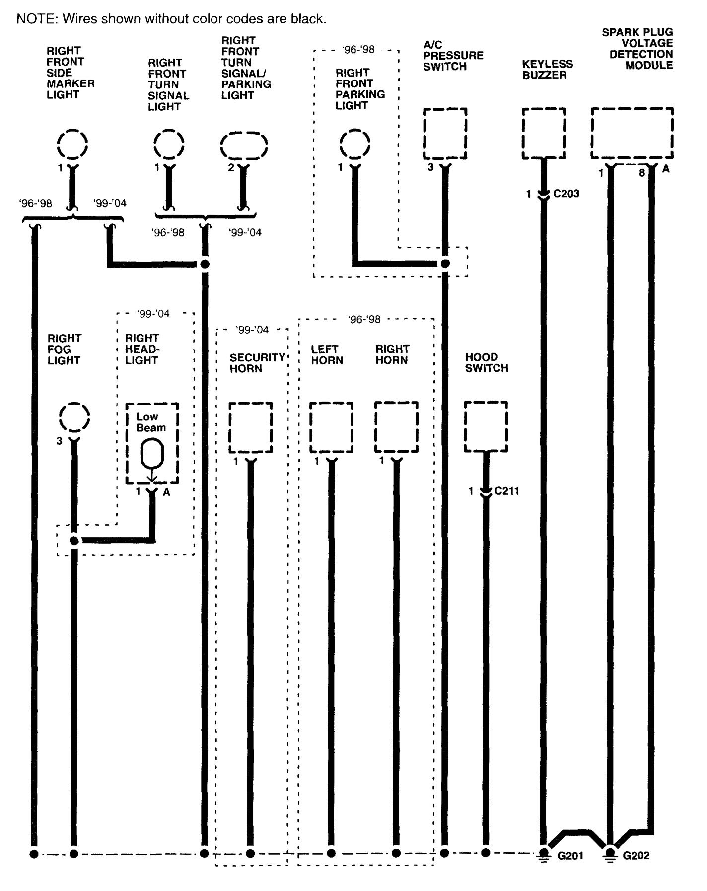 Acura Rl 2003 2004 Wiring Diagrams Ground Distribution Fuse Box Part 3