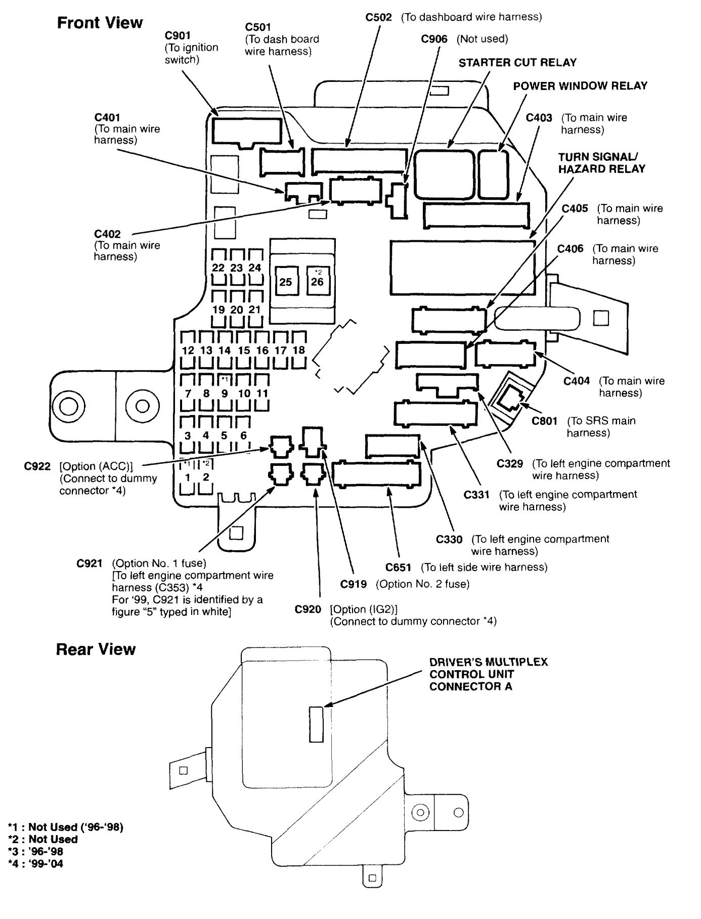 acura rl  2000 - 2004  - wiring diagrams