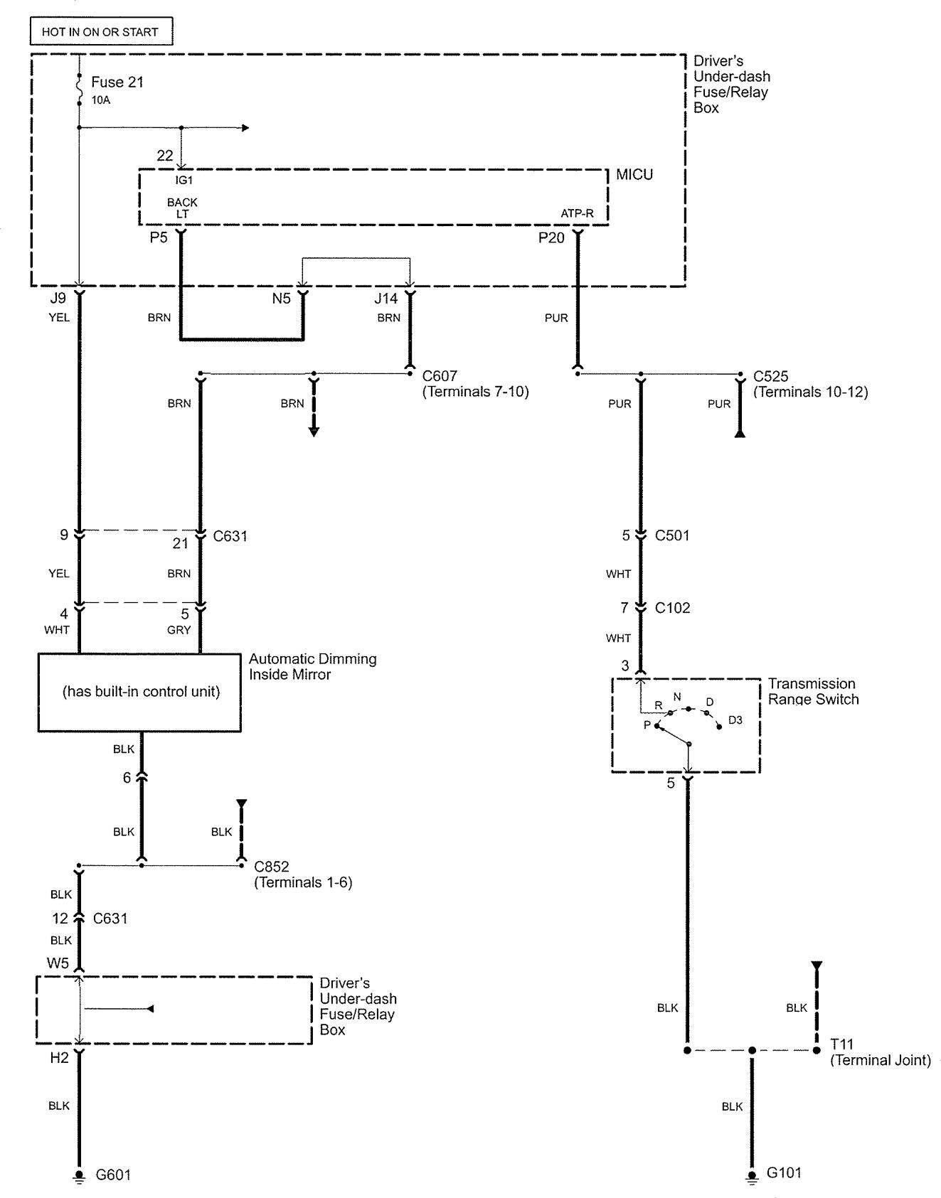 Acura Rl  2005  - Wiring Diagrams