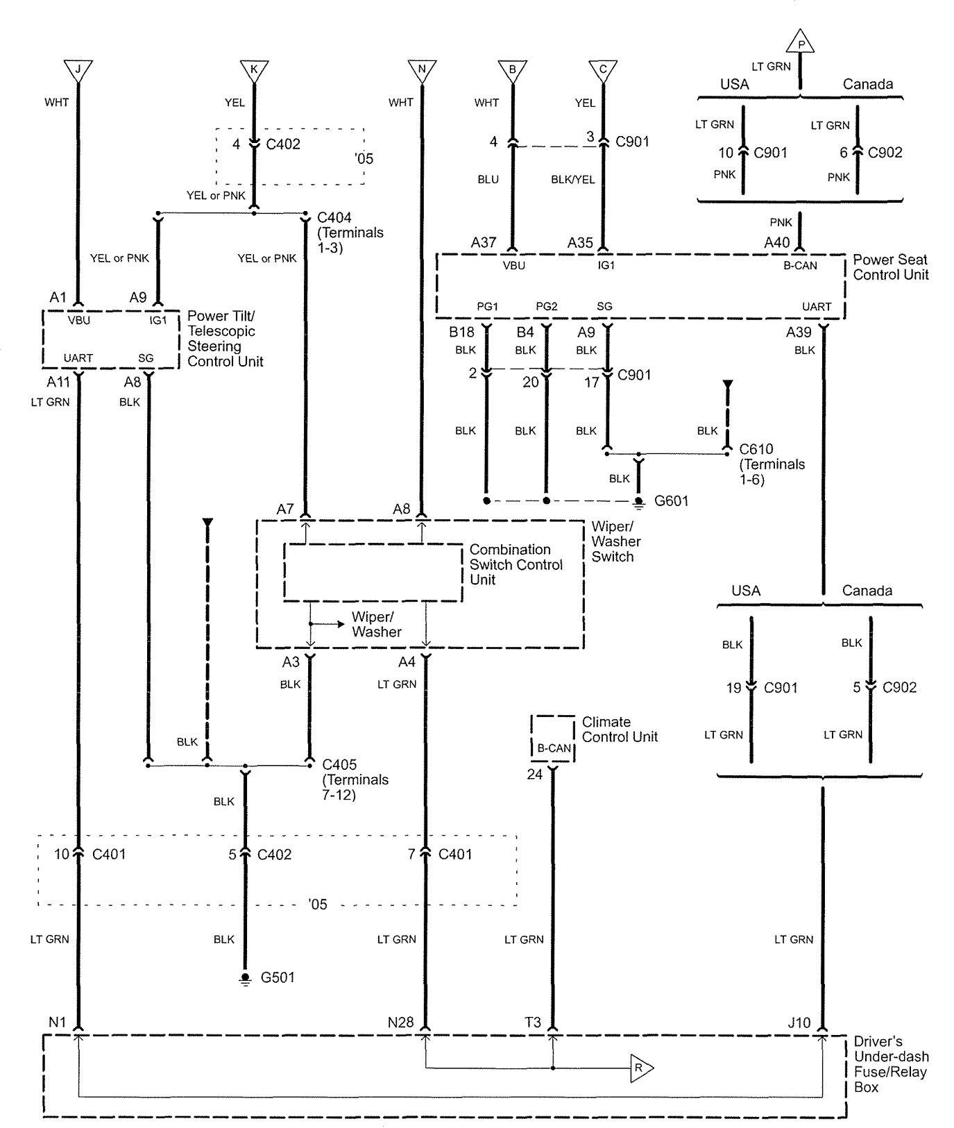 Acura Rl 2005 Wiring Diagrams Body Control