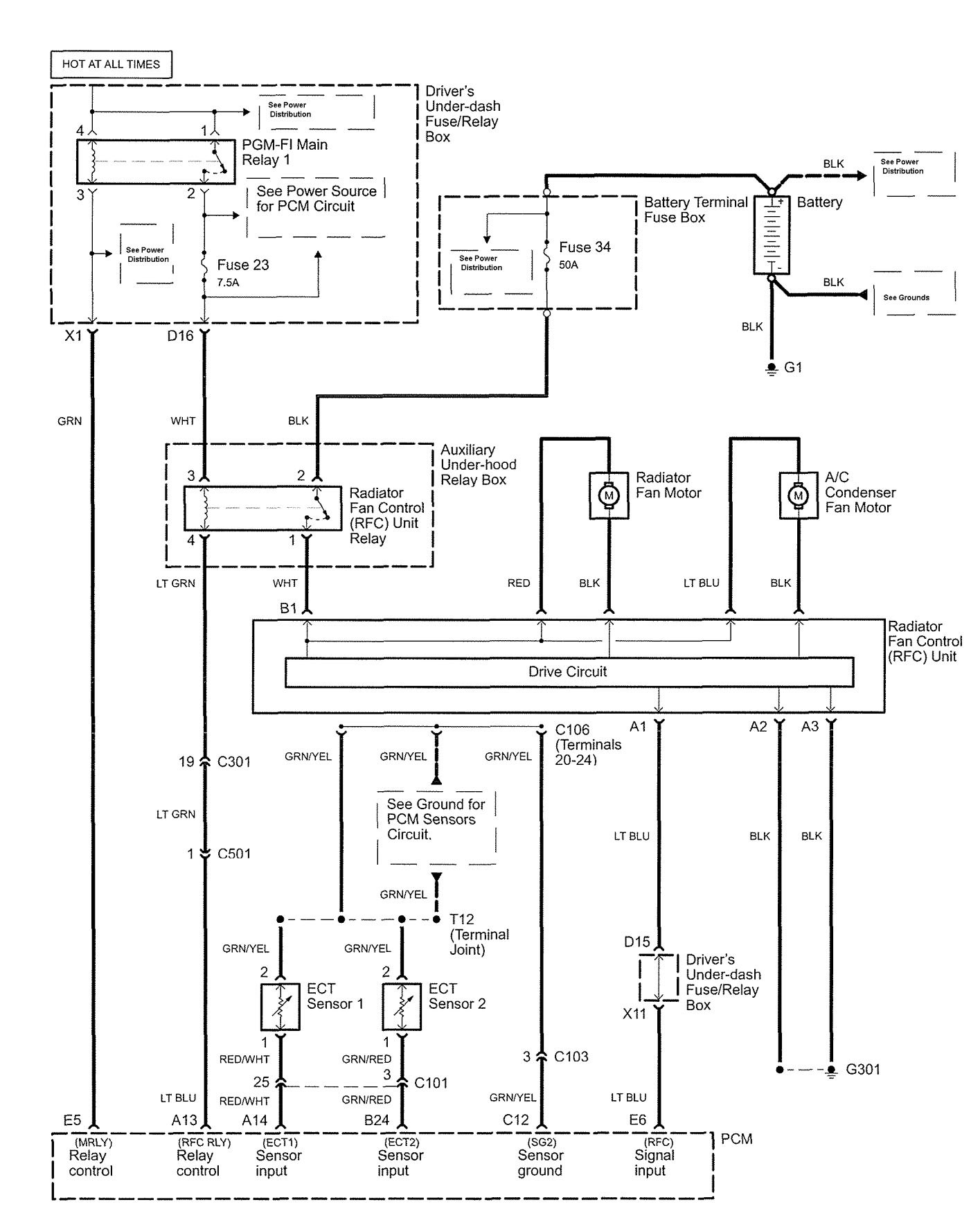 Acura RL (2006) - wiring diagrams - cooling fans - Carknowledge.infoCarknowledge.info
