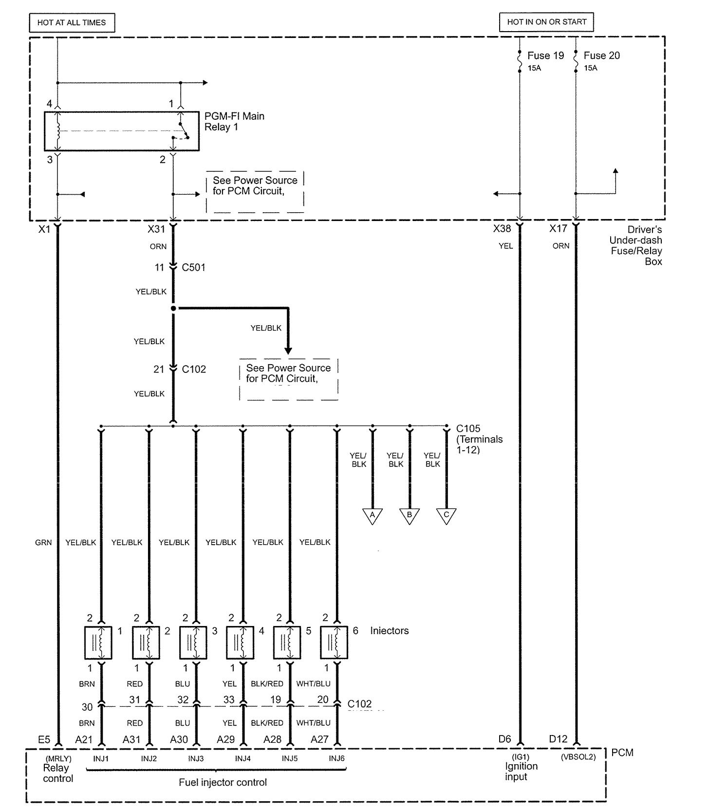 acura rl wiring diagram fuel controls v2 3 2005 acura rl (2006) wiring diagrams fuel controls carknowledge Trailer Wiring Diagram at edmiracle.co