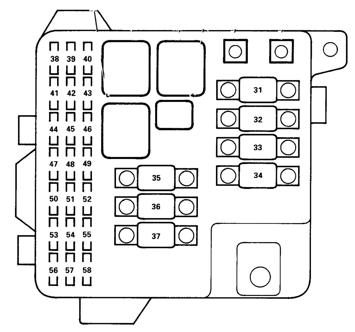 Acura Rl 2000 2002 Wiring Diagrams Fuse Panel