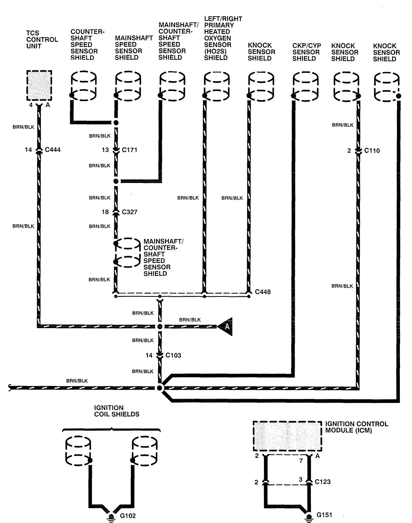 Acura Rl 1996 1998 Wiring Diagrams Ground Distribution Carknowledge Info