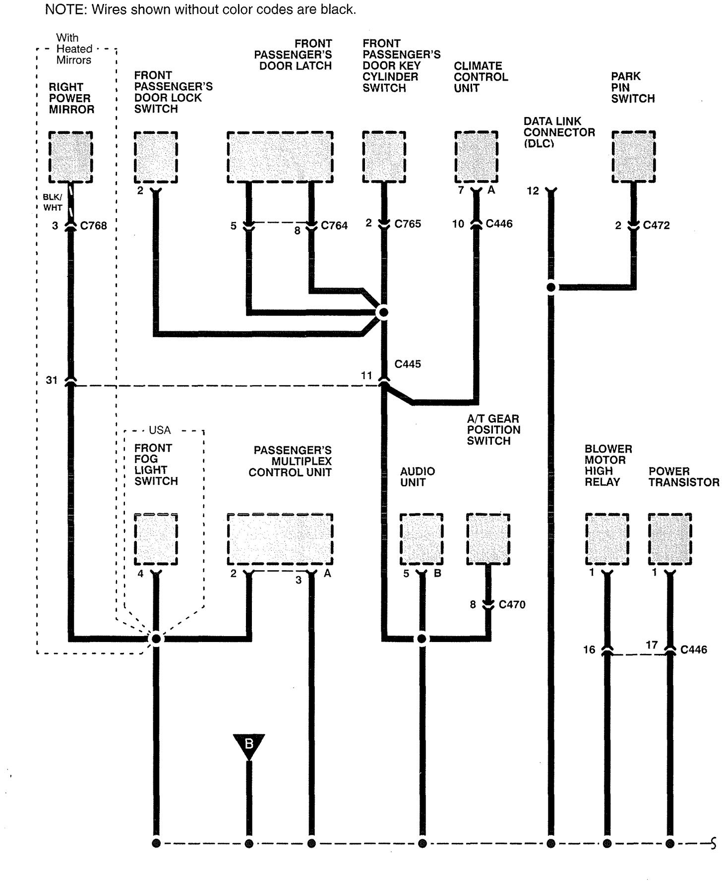 Acura Rl 1996 1998 Wiring Diagrams Ground Distribution Diagram For 1997 Part 6