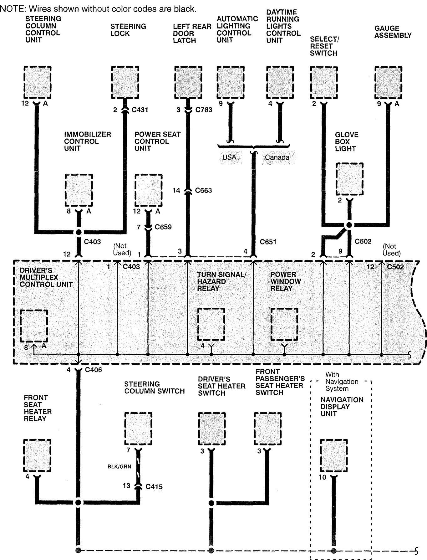 acura rl  1999  - wiring diagrams