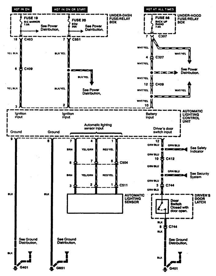 1998 acura rl wiring diagram 2008 acura rl wiring diagram acura rl (1996 - 1998) - wiring diagrams - headlamps - carknowledge #6
