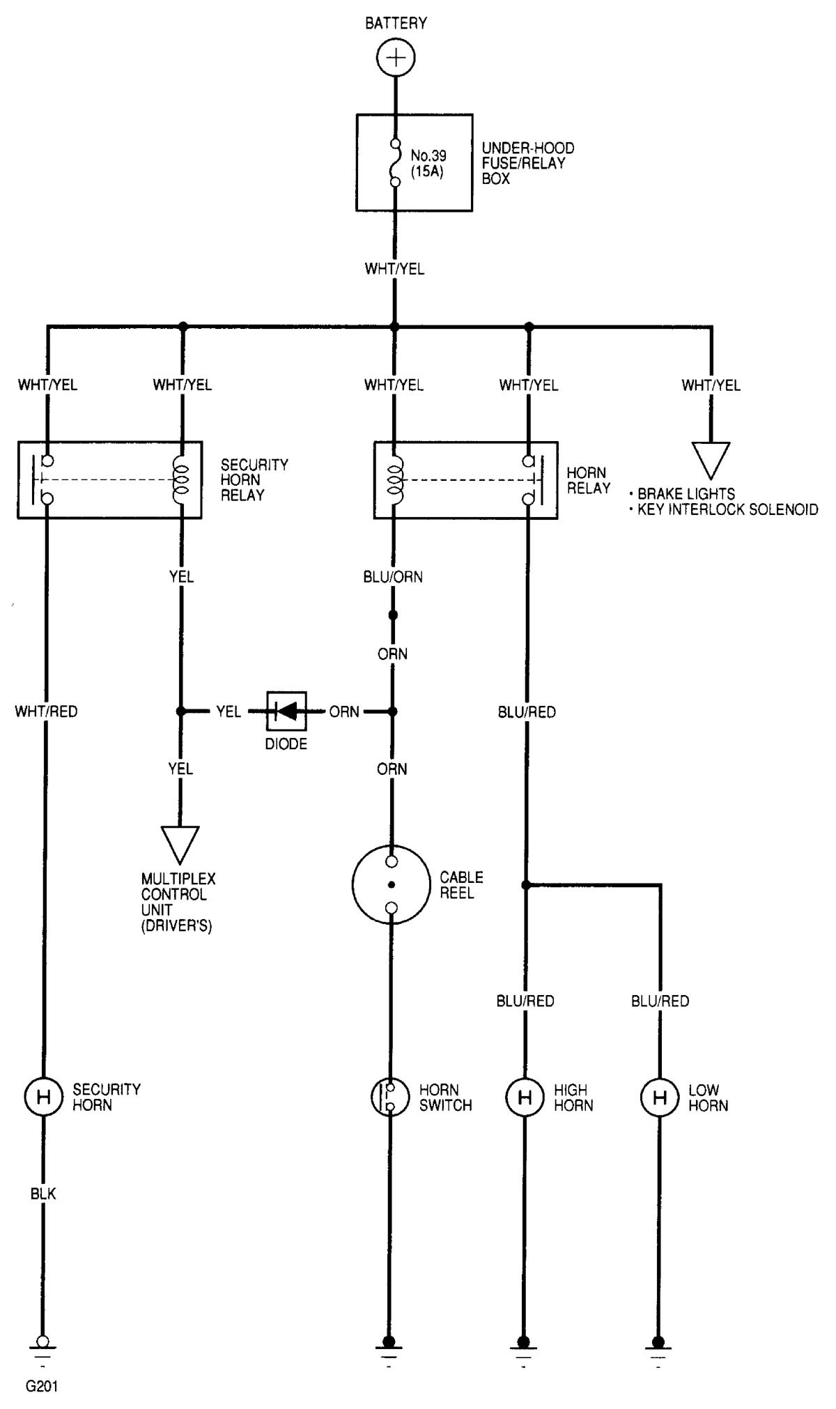 Wiring Diagram For 2002 Acura Rl Detailed Schematics 2000 El Diagrams Horn Carknowledge Exhaust System