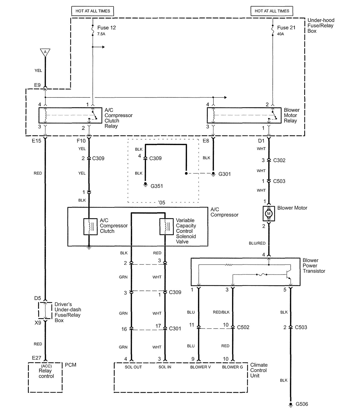 Acura Rl 2005 Wiring Diagrams Hvac Controls Carknowledge Info
