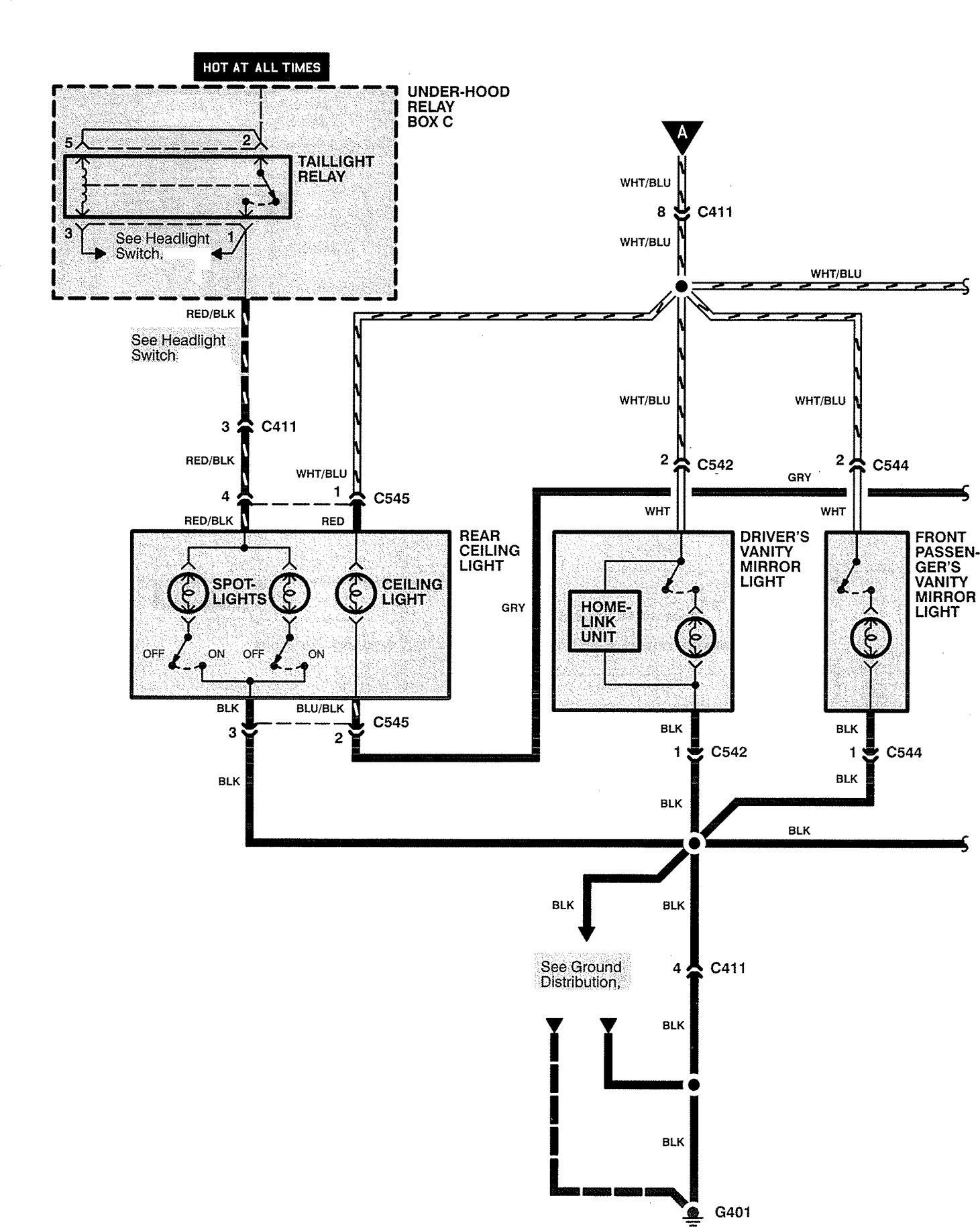 Acura Rl  1999  - Wiring Diagrams