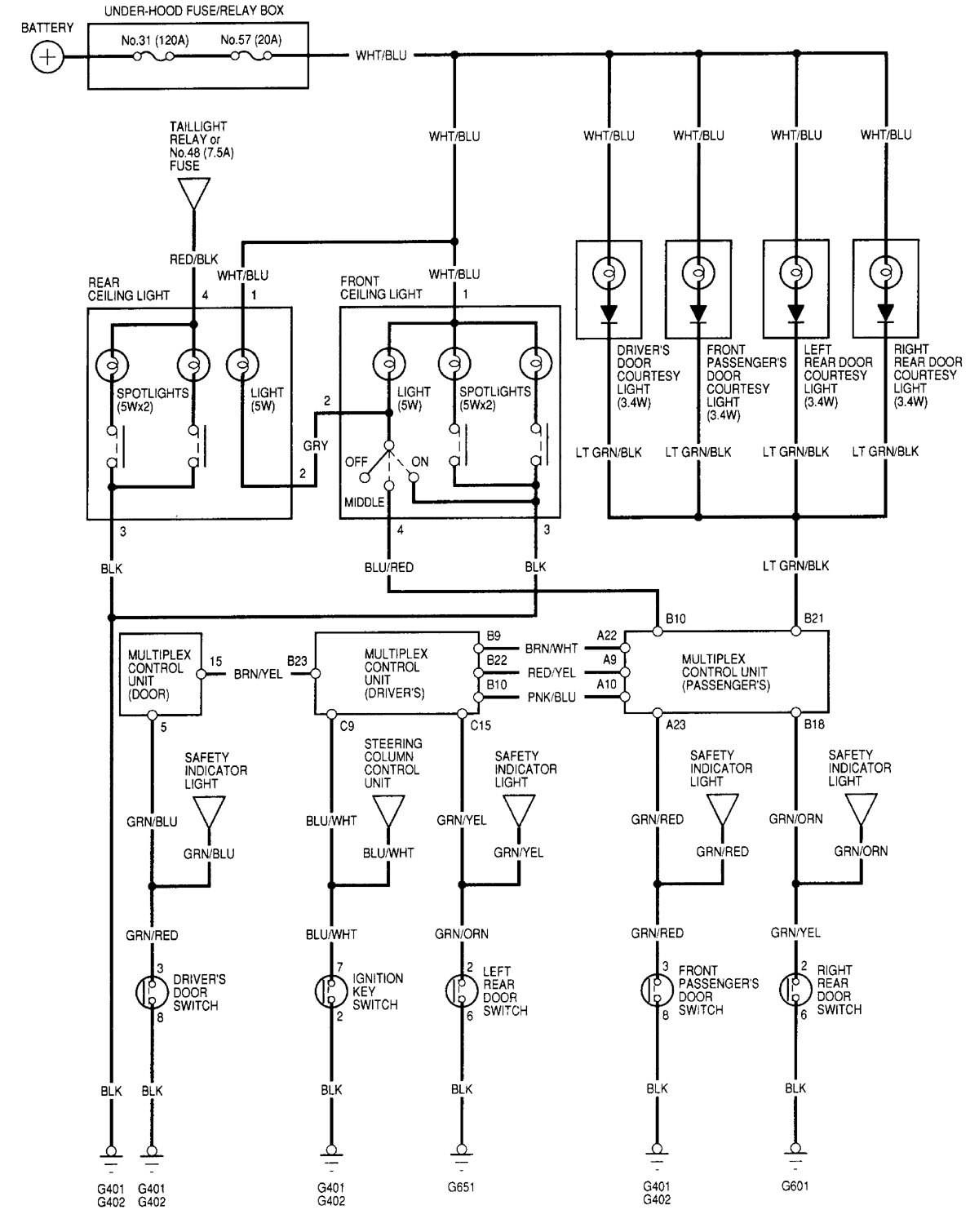 Acura Rl 2000 2002 Wiring Diagrams Illuminated Entry Diagram For