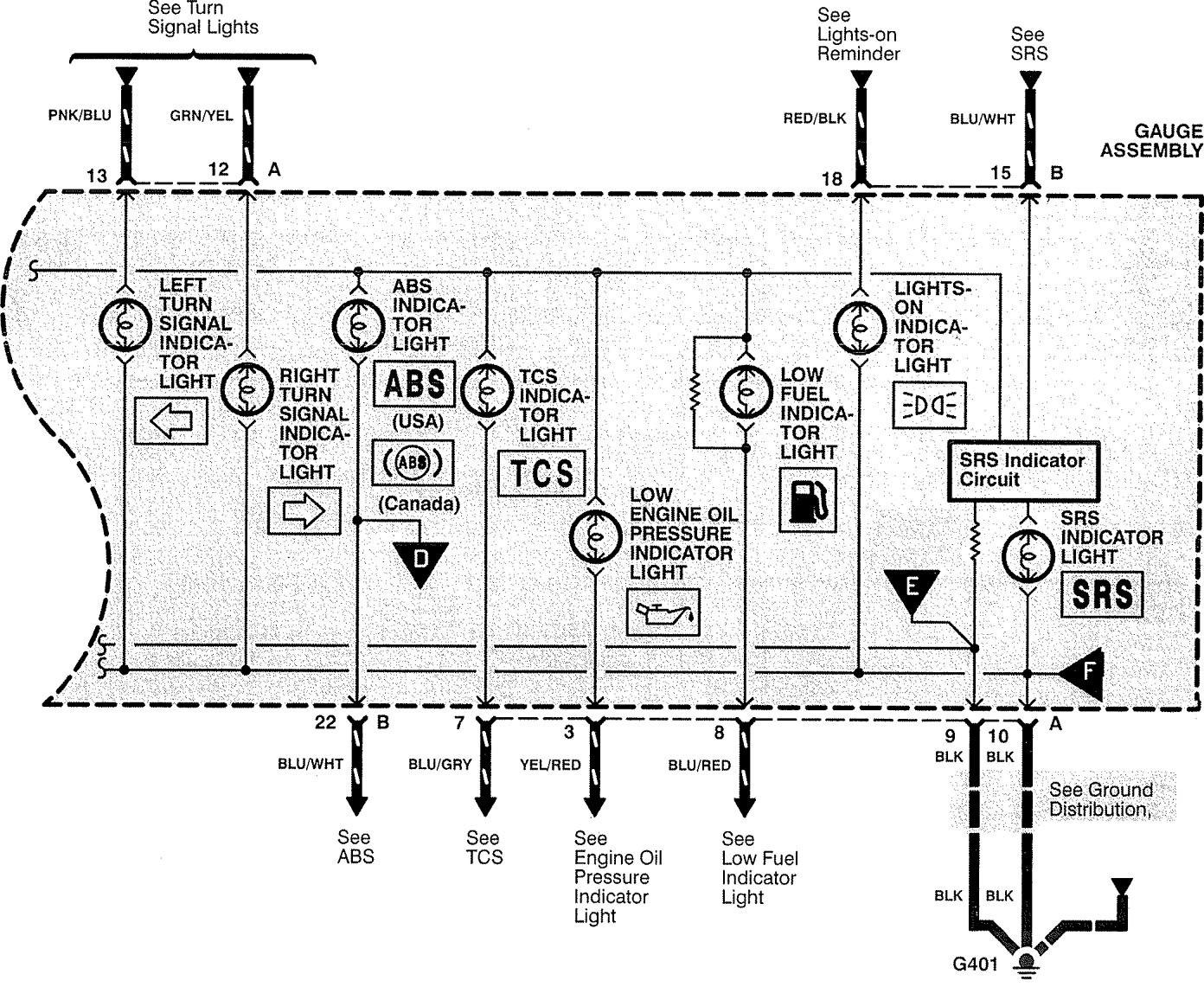 acura rl  1996  - wiring diagrams