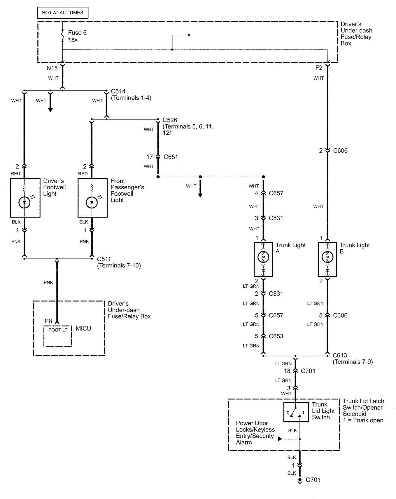 Western Star Transmission Wiring Diagram 2011 Will Acura Rl 2005 Diagrams Interior Lighting Schematics