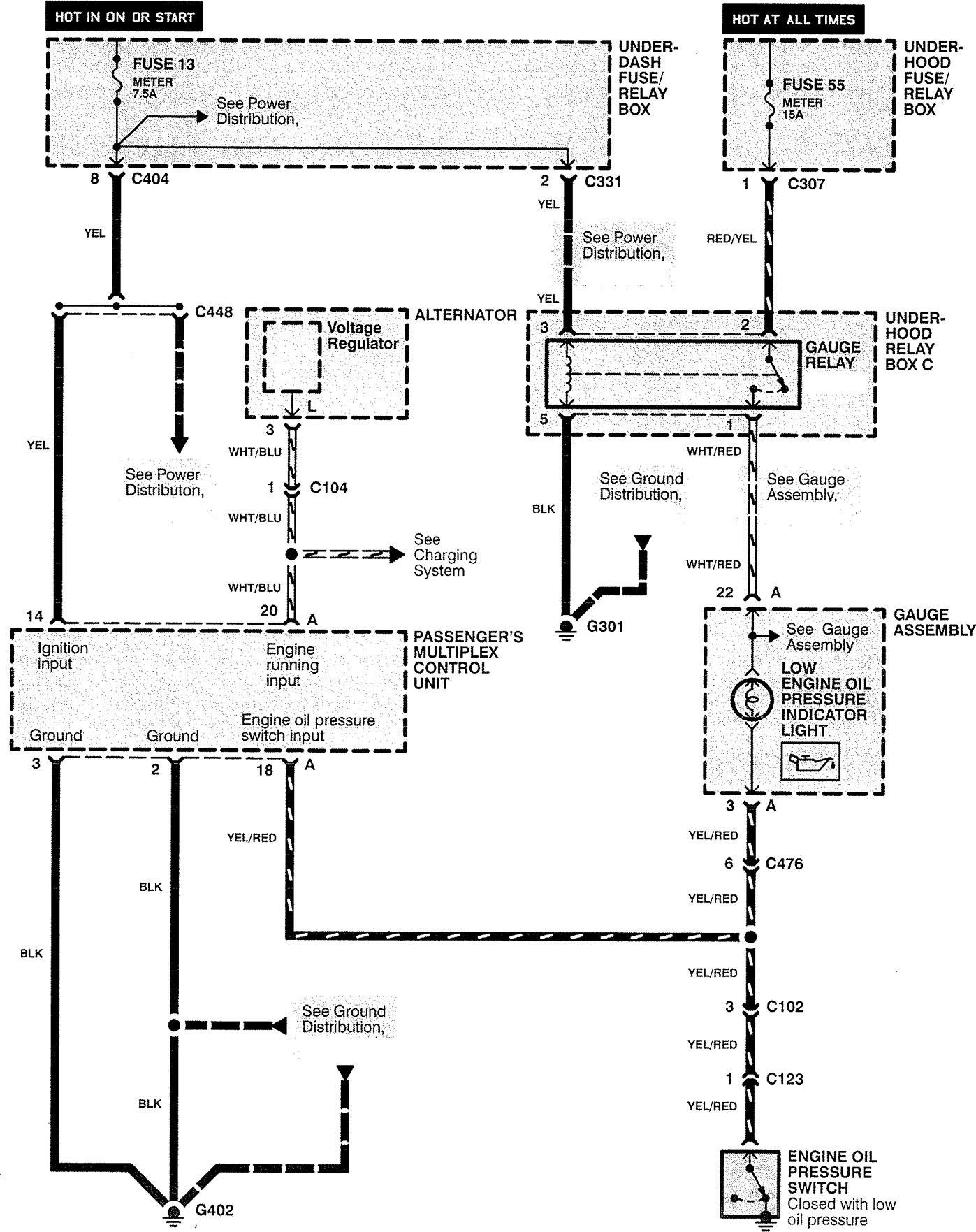 acura rl  1996 - 1997  - wiring diagrams