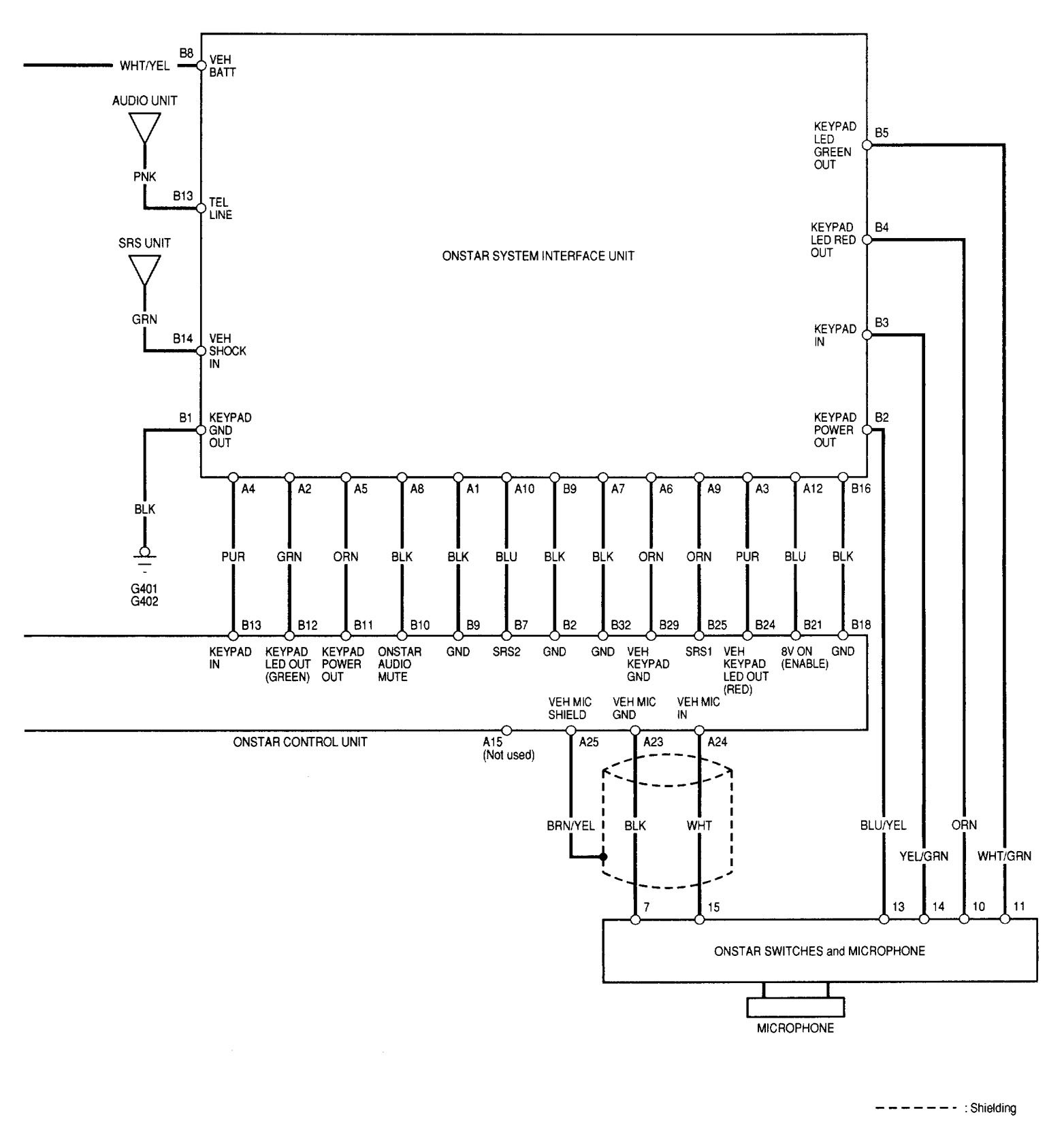 Acura Rl (2002) Wiring Diagrams Onstar System Carknowledge 2002 Acura 3.5 RL  Wiring Diagram For 2002 Acura Rl