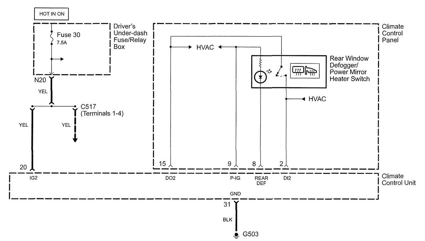 Acura Tl Window Wiring Diagram Diagrams Rsx Blower Rl 2005 Rear Defogger 2008 2002