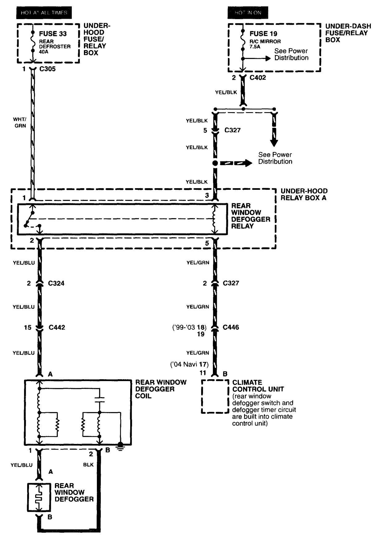 Acura Rl 2003 2004 Wiring Diagrams Rear Window Defogger Ferrari 456 Diagram