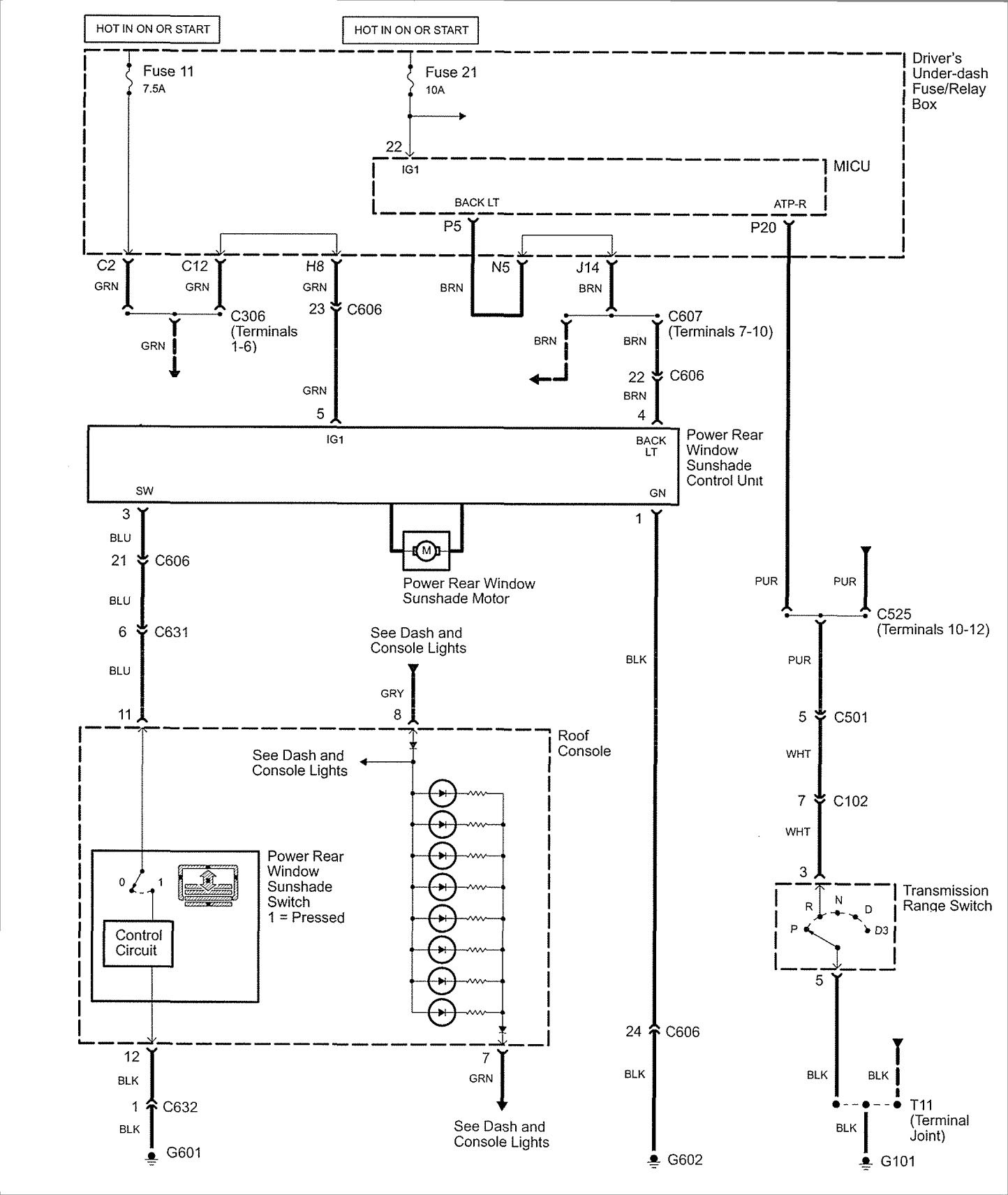 Acura Rl 2007 2008 Wiring Diagrams Rear Window Sunshade Carknowledge Info