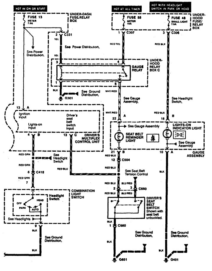 1996 Acura Rl Wiring Diagram
