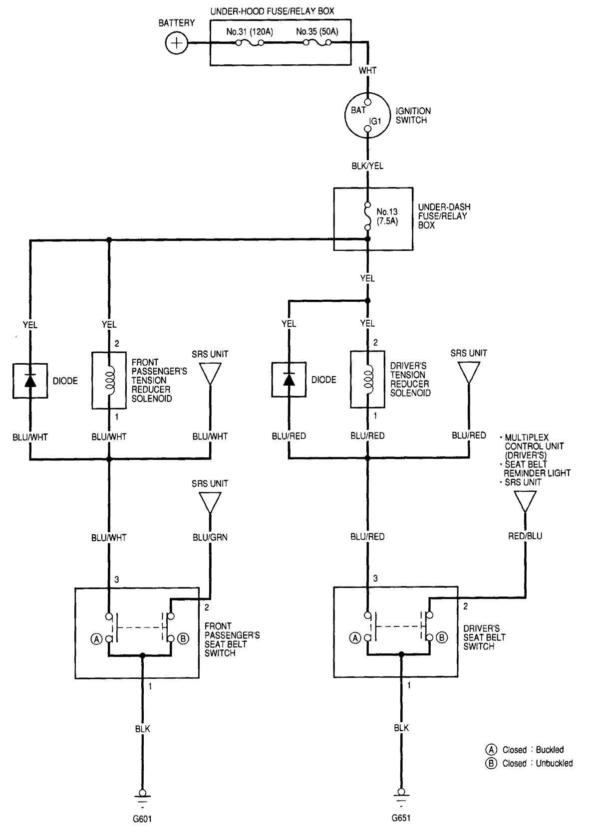 2000 Acura Rl Wiring Diagram Diagrams 2002 Seat Belts Bose Amp