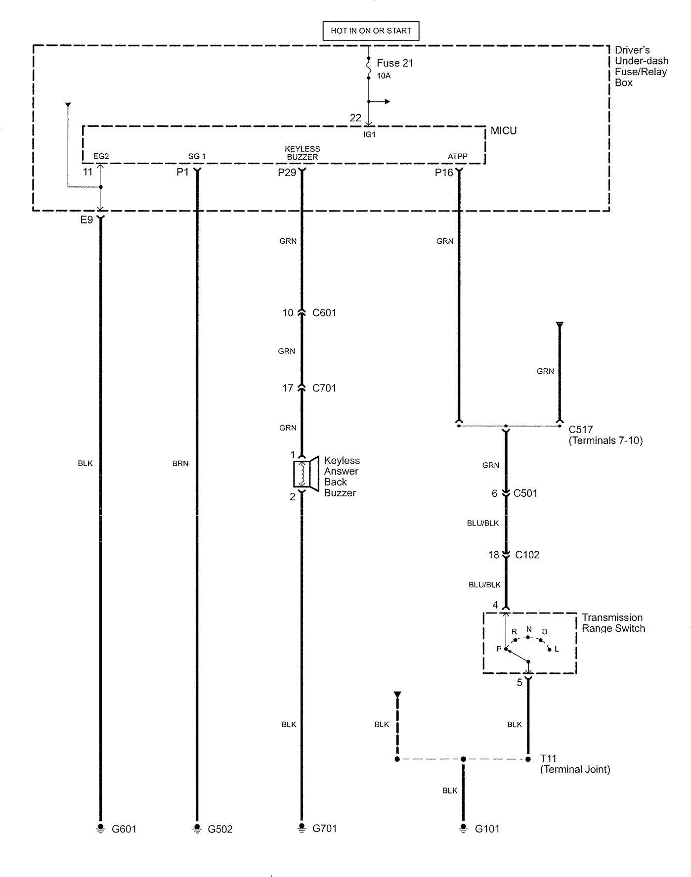 Acura Rl 2007 2008 Wiring Diagrams Security Anti Theft Legend Diagram Part 10