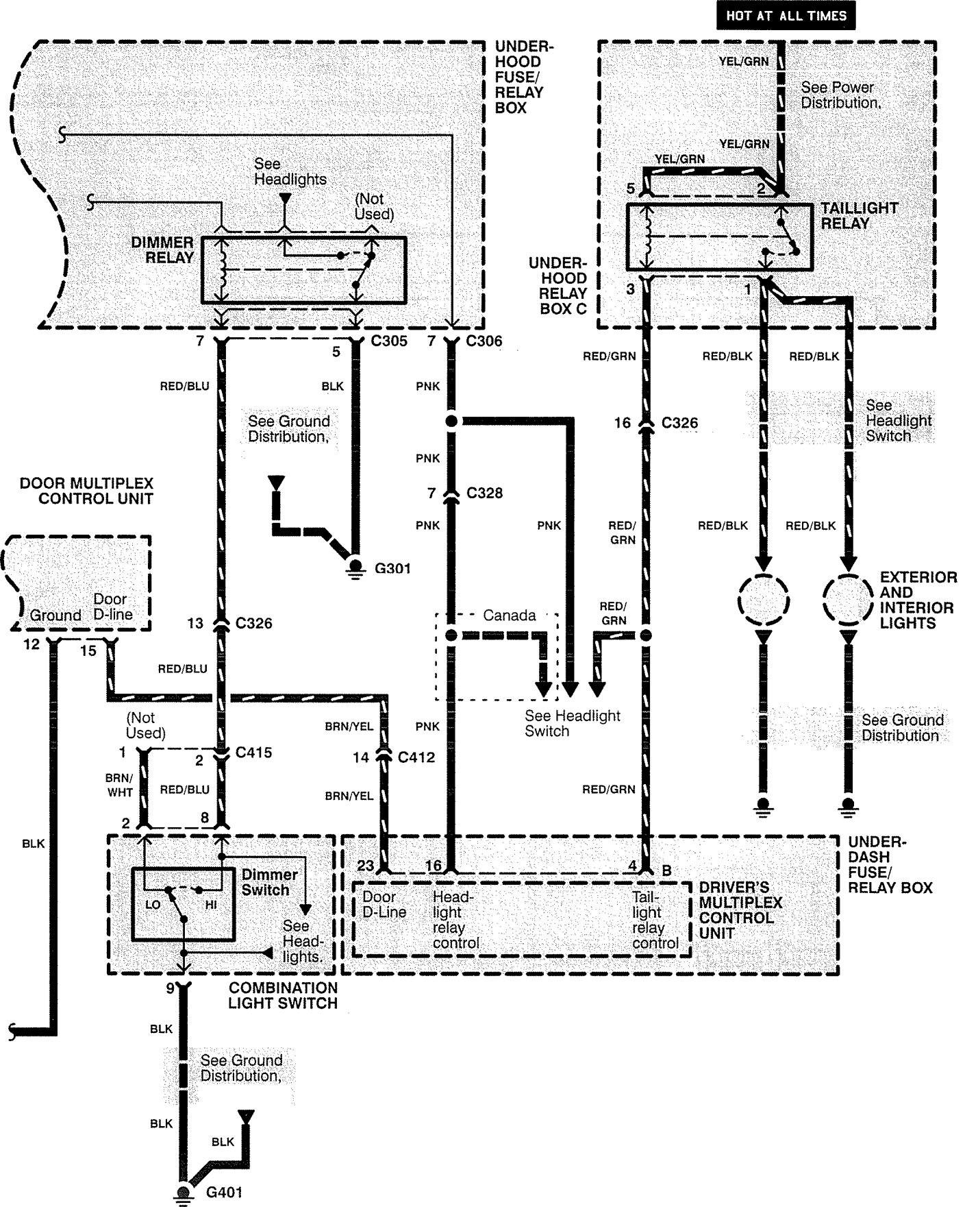 acura rl  1999  - wiring diagrams  anti