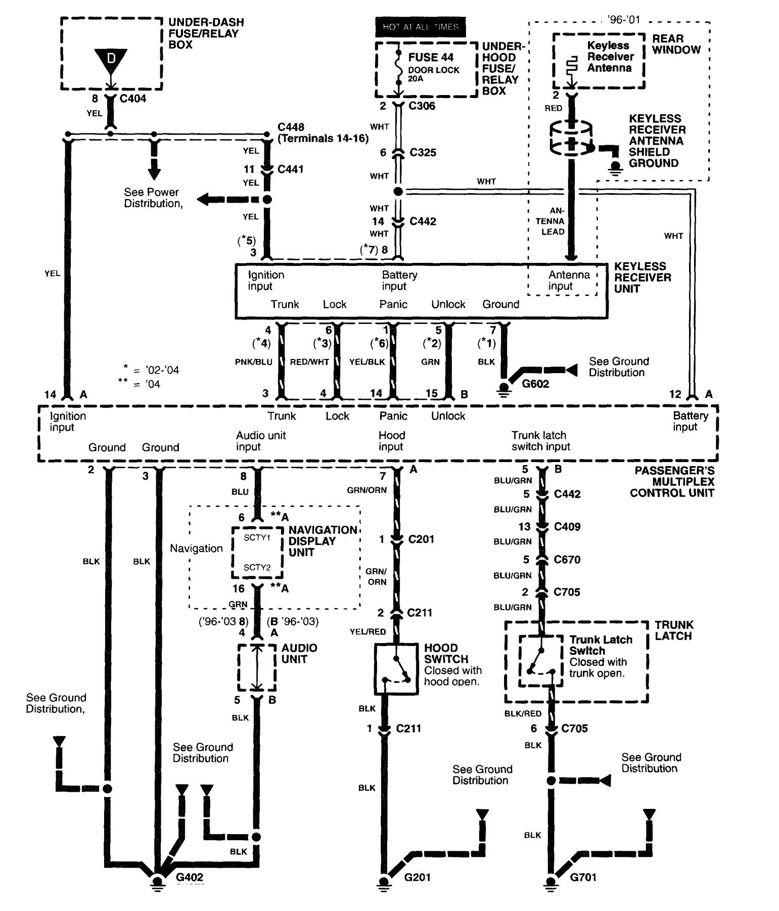 Wiring Diagram For Alarm Silence : Acura rl  wiring diagrams security anti
