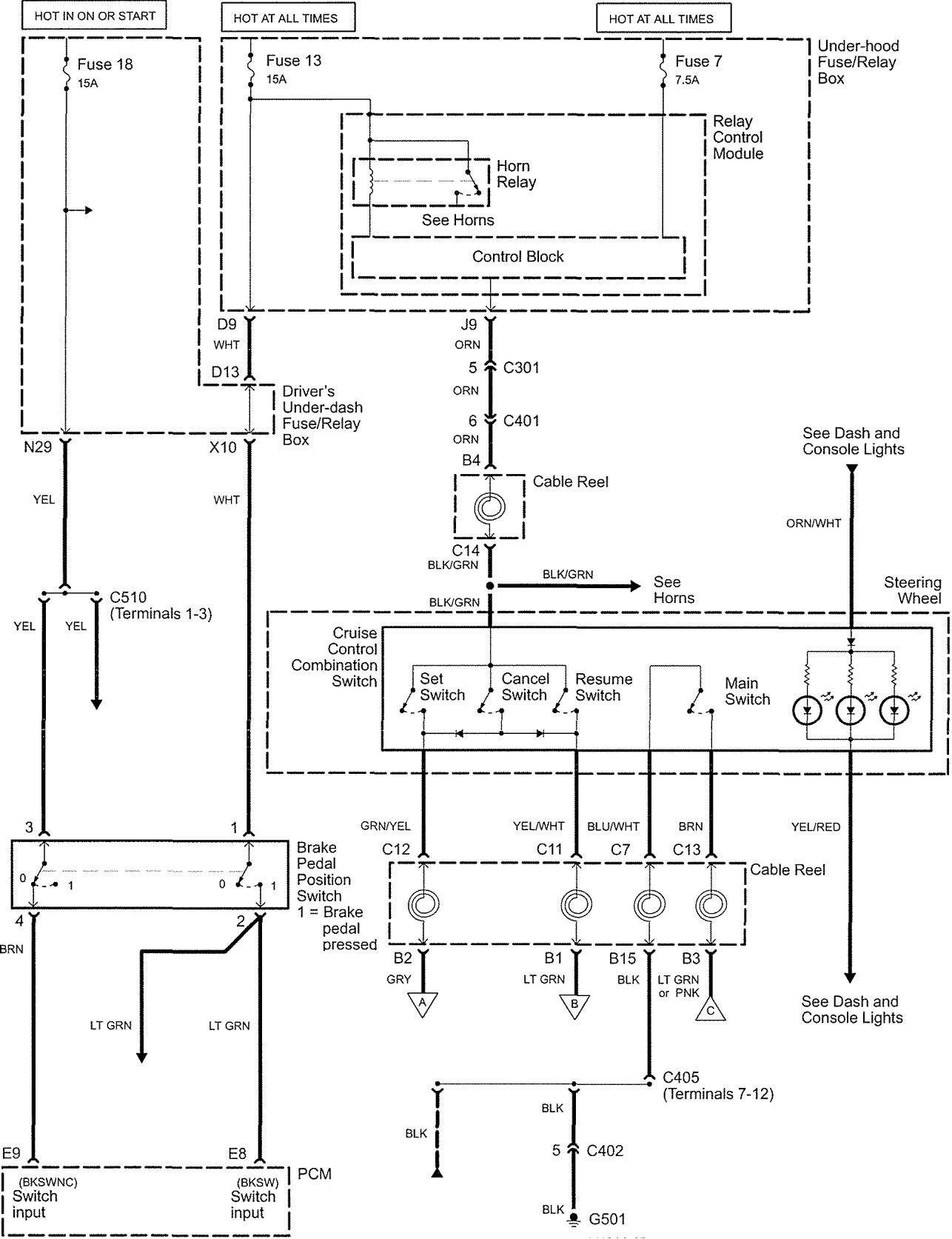 Acura Rl 2005 Wiring Diagrams Speed Control