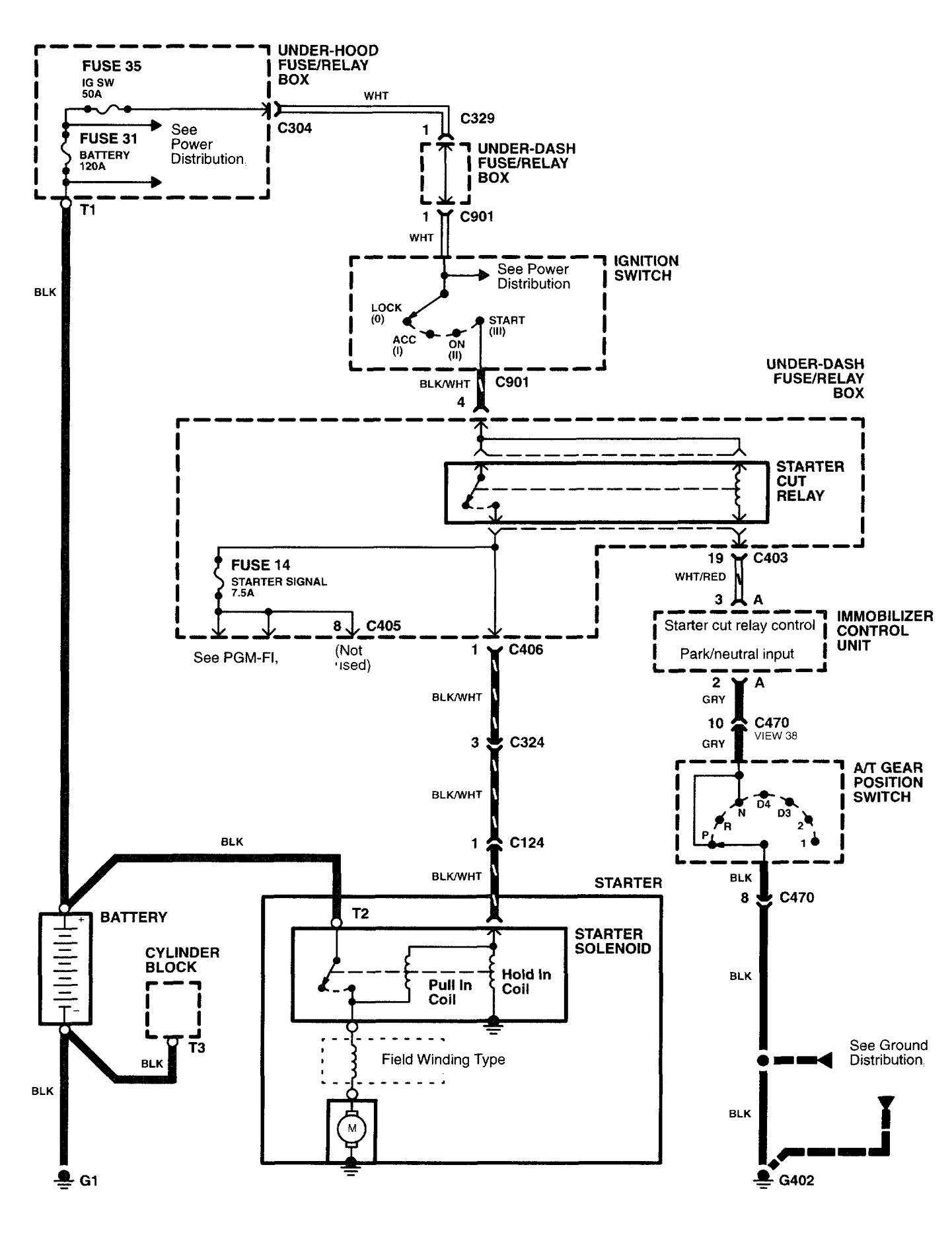Acura RL (2003 - 2004) - wiring diagrams - starting ...