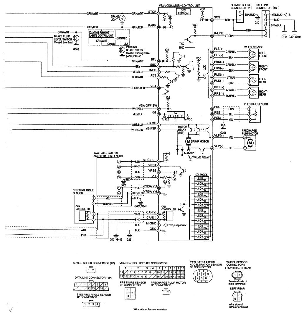 Acura RL (2000 - 2002) - wiring diagrams - traction ...