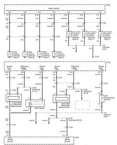 Acura RL - wiring diagram - transmission control (part 2)