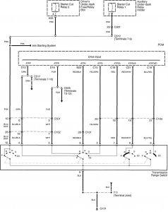 Acura RL - wiring diagram - transmission control (part 1)