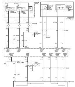 Acura RL - wiring diagram - transmission control (part 4)