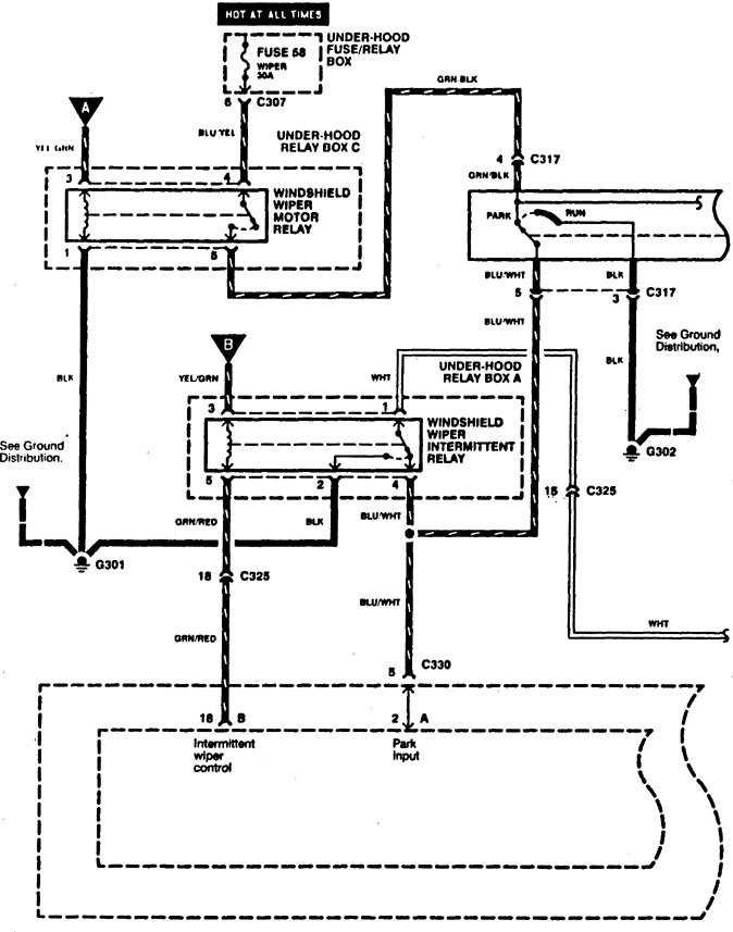 Acura Rl  1996 - 1998  - Wiring Diagrams  Washer