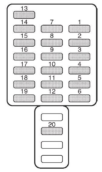 Subaru Forester (2002) – fuse box diagram - Carknowledge.info