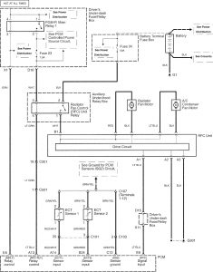 Acura RL - wiring diagram - cooling fans (part 1)