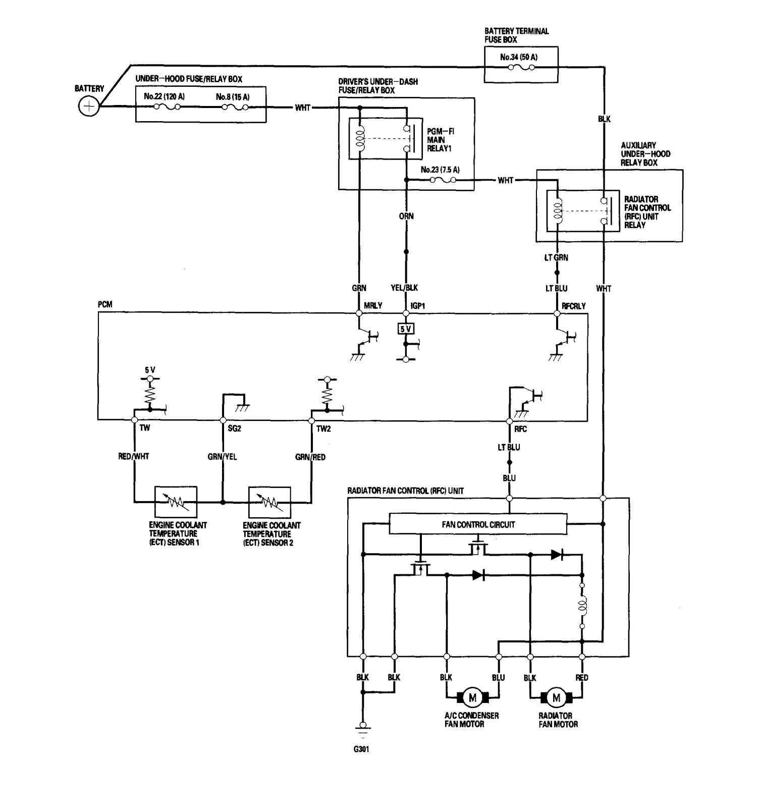 Acura Rl 2006 Wiring Diagrams Cooling Fans Carknowledge Engine Diagram