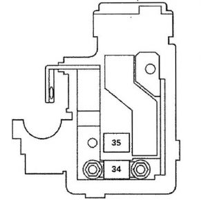 Acura RL - wiring diagram - fuse panel - battery terminal fuse box
