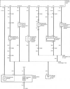 Acura RL - wiring diagram - HVAC control (part 4)