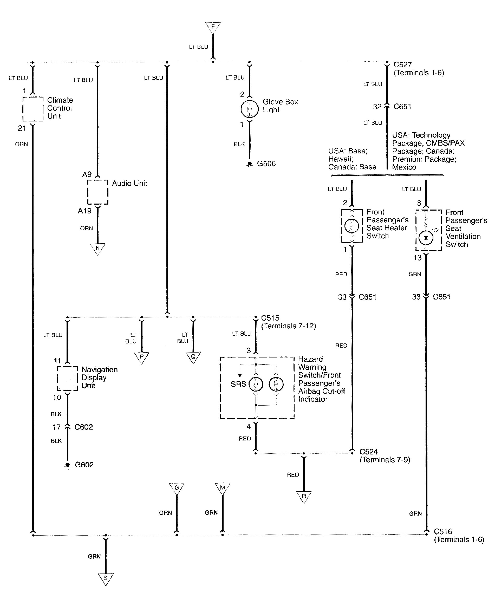 acura rl  2009  - wiring diagrams