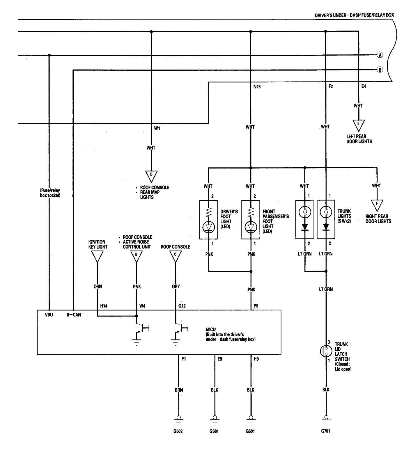 Acura Rl 2005 2006 Wiring Diagrams Interior Lighting Gmc Canyon Fuse Relay Box Diagram Part 2