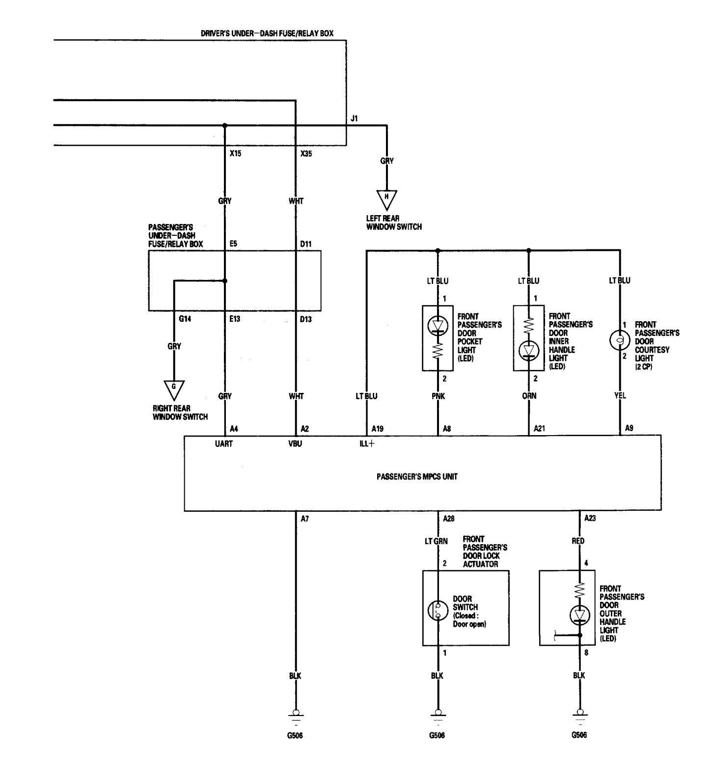 Acura Rl 2005 2006 Wiring Diagrams Interior Lighting Gmc Canyon Fuse Relay Box Diagram Part 4