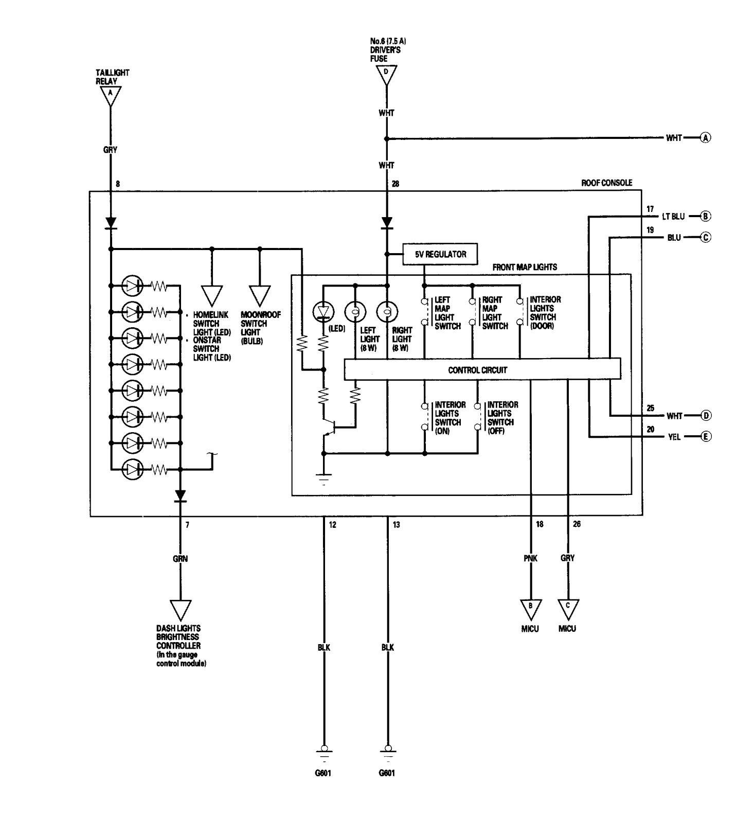 Acura Rl 2005 2006 Wiring Diagrams Interior Lighting Saab Diagram Part 6