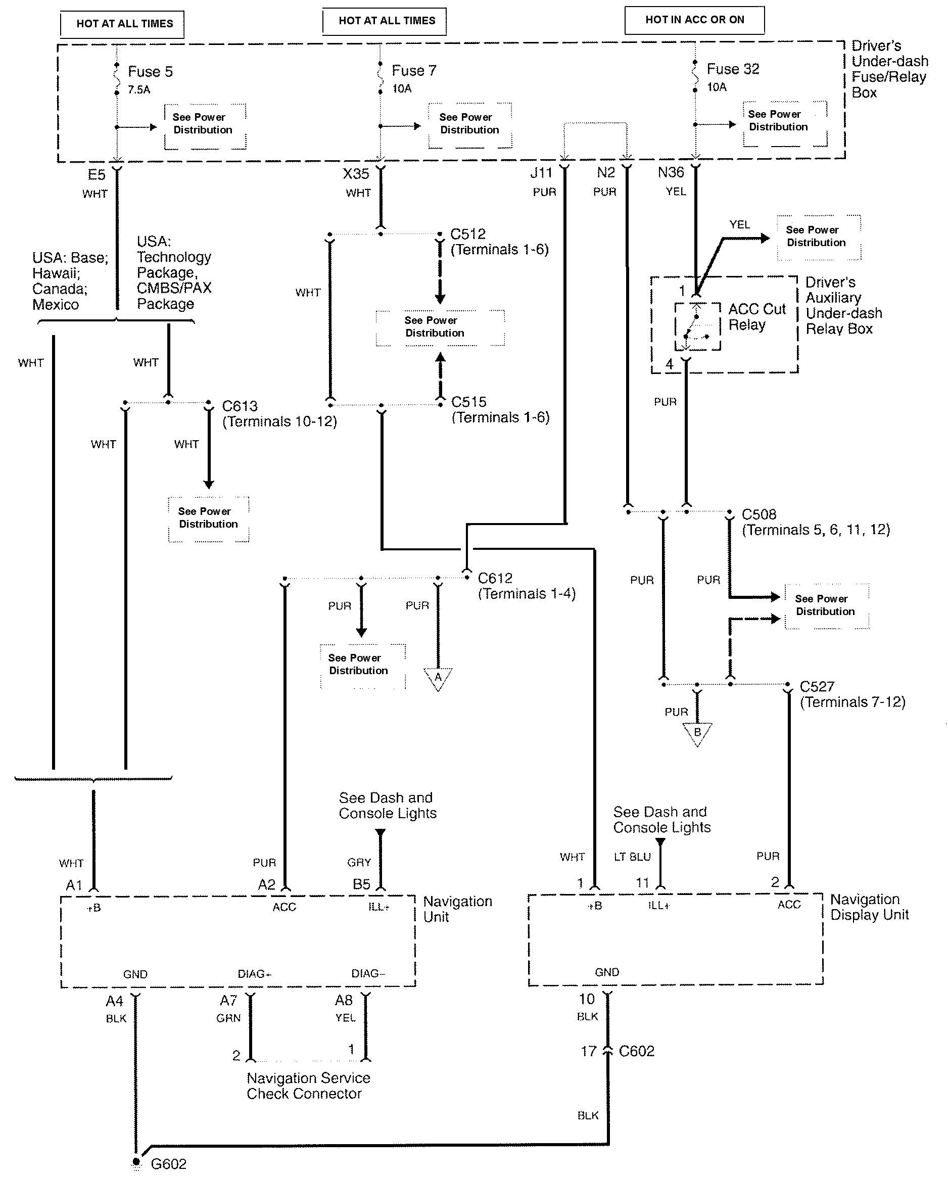 Acura Navigation Wiring Diagram : Acura rl wiring diagrams navigation system