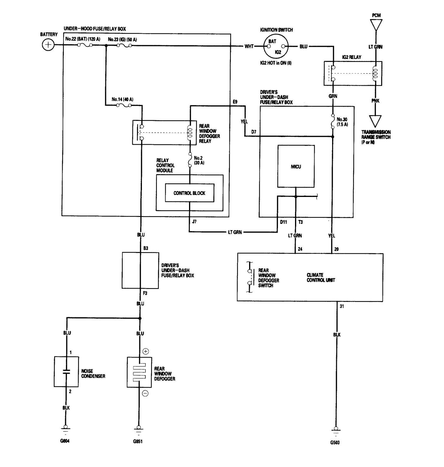 acura integra fuse diagram enthusiast wiring diagrams