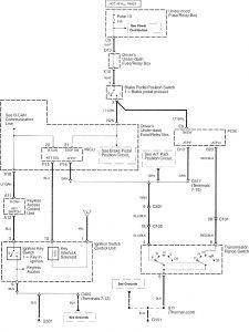 Acura RL - wiring diagram - shift interlock (part 1)