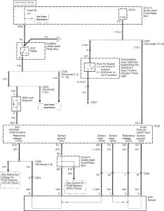 Acura RL - wiring diagram - shift interlock (part 2)