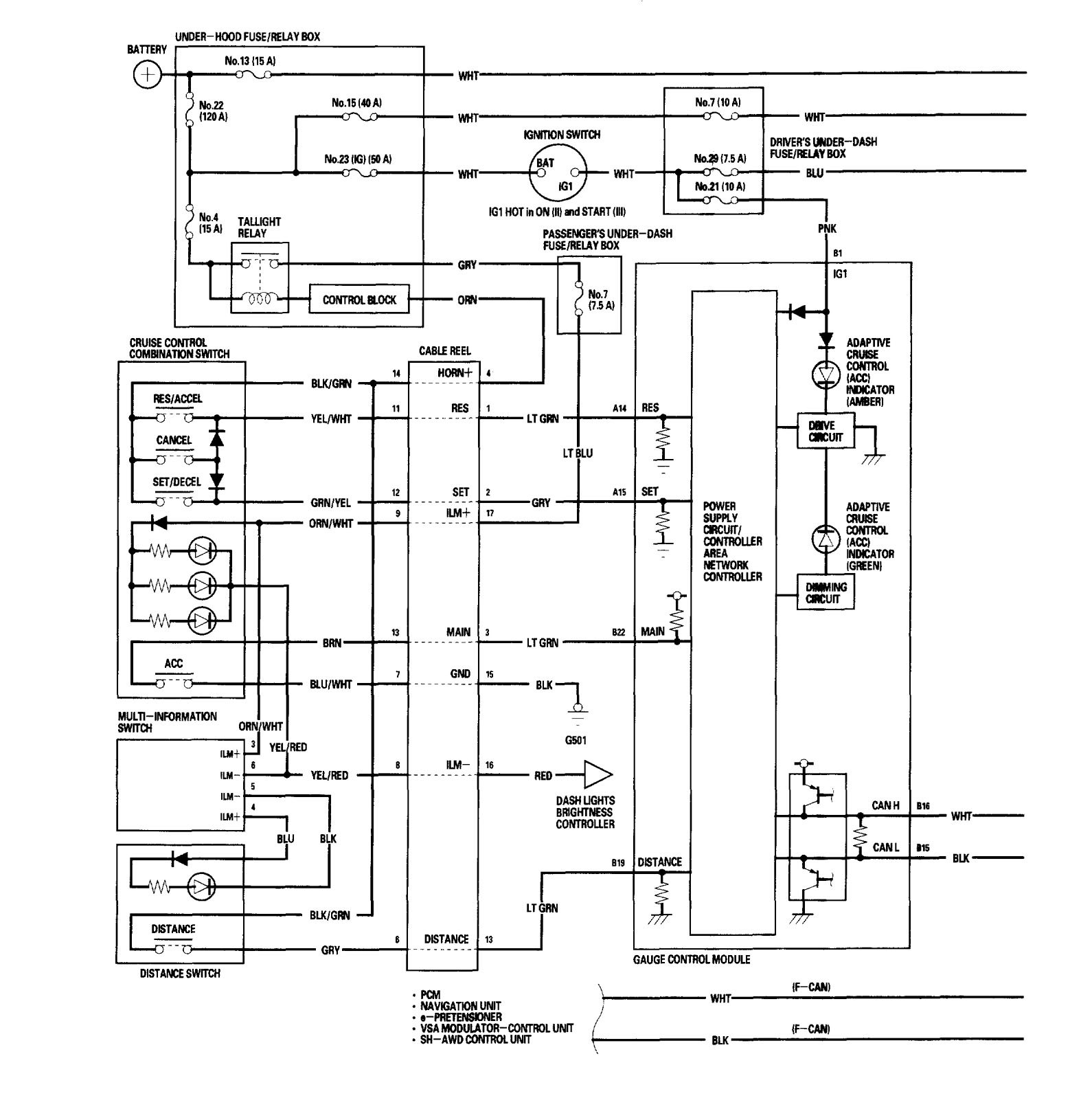 Acura RL (2006) - wiring diagrams - speed control - Carknowledge.info | Acura Cruise Control Diagram |  | Carknowledge.info