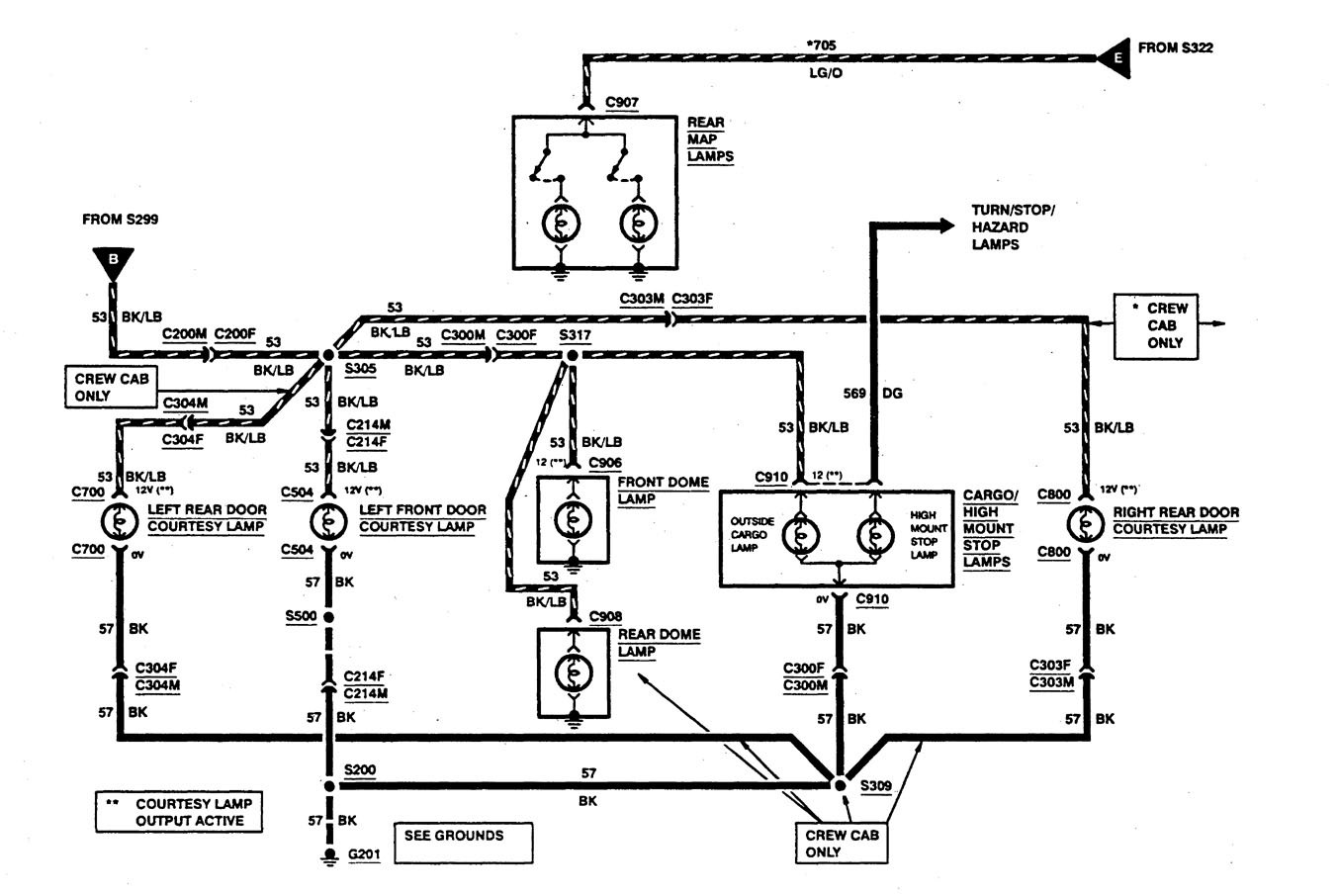 Ford F53 1997 Wiring Diagrams Courtesy Lamps Carknowledge Diagram Part 4